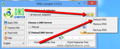 Reset DNS to default