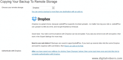 Authenticate with Dropbox