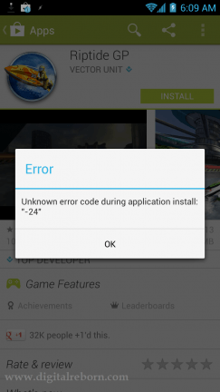Google play unknown error