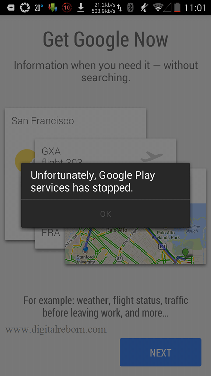 Google play Service Has Stopped