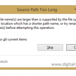 How To Fix Source Path Too Long To Delete Windows
